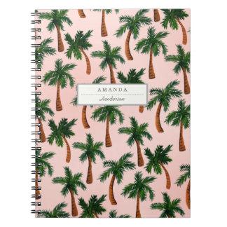 Palm Tree Print Custom Notebook