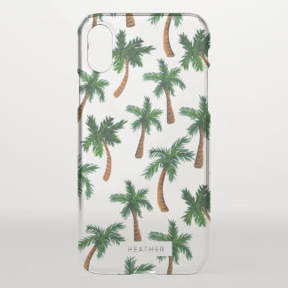 Palm Tree Print iPhone X Case