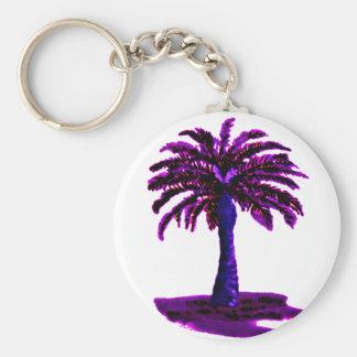 Palm Tree Purple The MUSEUM Zazzle Gifts Key Chain