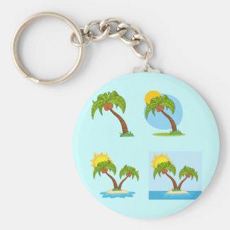 Palm Tree Quartet Keychain