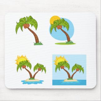 Palm Tree Quartet Mouse Pad