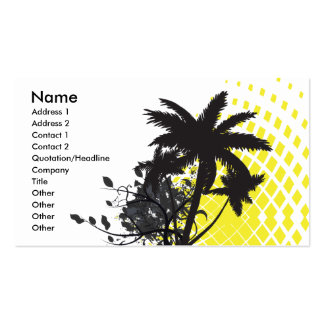palm tree rays business cards