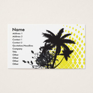 palm tree rays business card