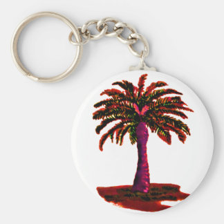 Palm Tree Red The MUSEUM Zazzle Gifts Key Chains