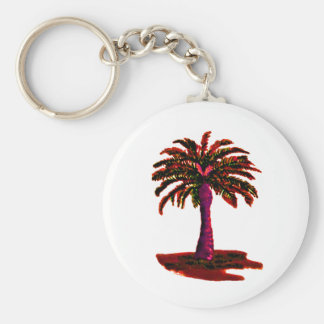 Palm Tree Red The MUSEUM Zazzle Gifts Key Chain