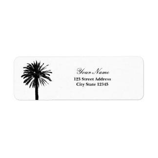 Palm tree return address labels
