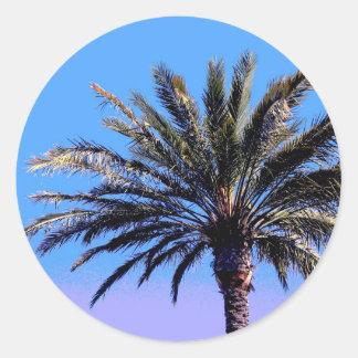 palm tree round sticker