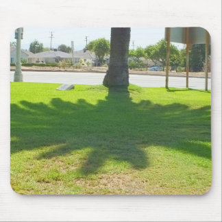 Palm tree shadow mouse pad