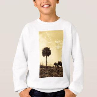 Palm Tree Silhouette in Yellow Tones Sweatshirt