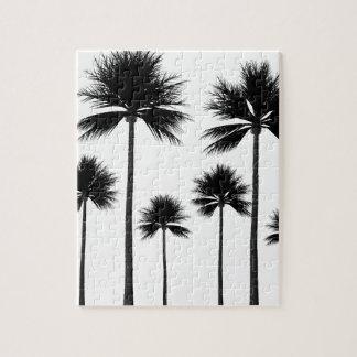 Palm Tree Silhouette Jigsaw Puzzle