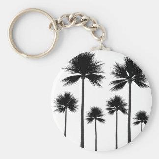 Palm Tree Silhouette Key Ring