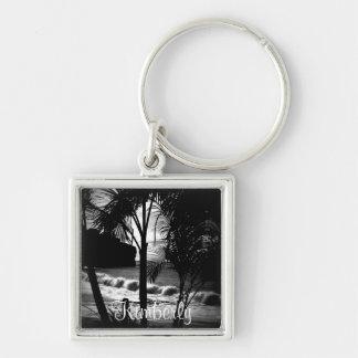 Palm Tree Silhouette Keychain