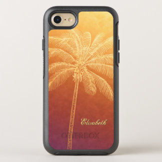 palm tree silhouette tropical sunset ombre OtterBox symmetry iPhone 8/7 case