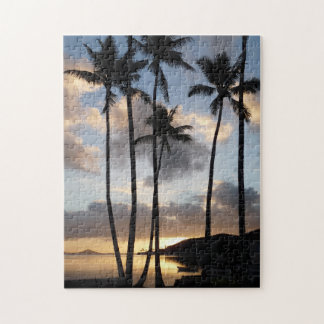 Palm Tree Silhouettes in Hawaii Jigsaw Puzzle