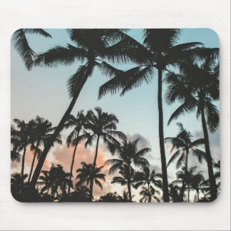 Palm Tree Silhouettes Mouse Pad