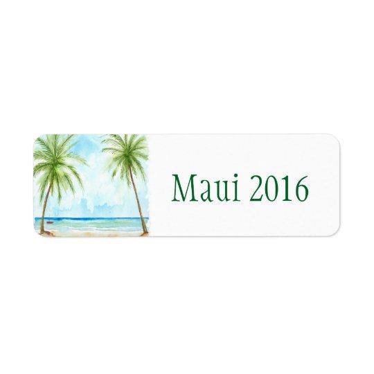 Palm Tree Sticker Return Address Label