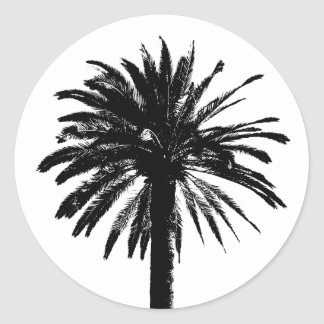 Palm tree stickers | beach wedding envelope sealer