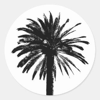 Palm tree stickers | beach wedding envelope sealer