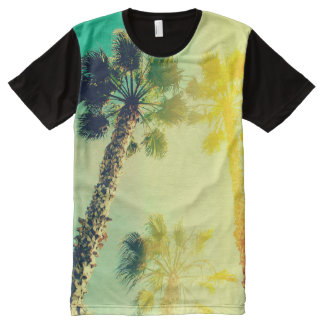 Palm Tree Sun Burst All-Over Print T-Shirt