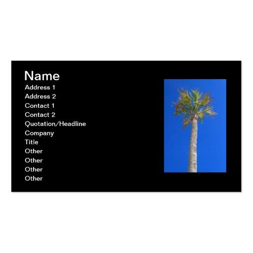 Palm Tree & Sunny Blue Sky Business Card