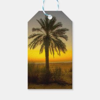 Palm Tree Sunrise Gift Tags