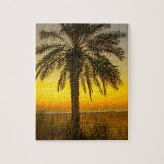 Palm Tree Sunrise Jigsaw Puzzle