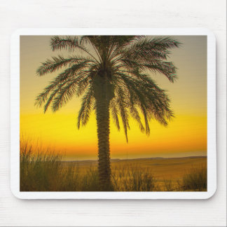 Palm Tree Sunrise Mouse Pad