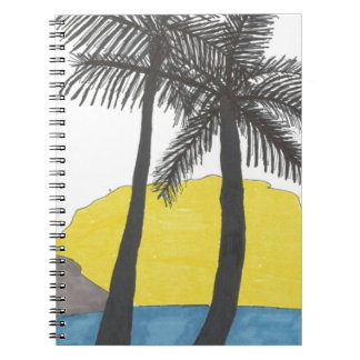 Palm Tree Sunrise Notebook