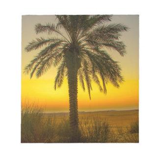Palm Tree Sunrise Notepad