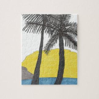 Palm Tree Sunrise Puzzles