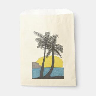 Palm Tree Sunrise Silhouette Favour Bag