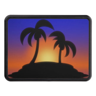 Palm Tree Sunrise Tow Hitch Cover