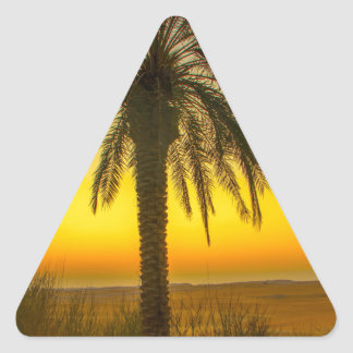 Palm Tree Sunrise Triangle Sticker