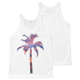 Palm Tree Sunset All-Over Print Singlet