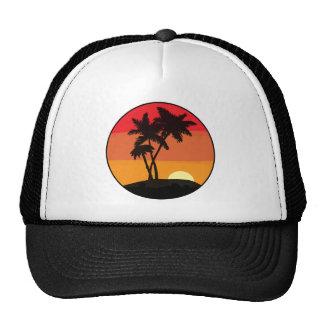 Palm Tree Sunset Trucker Hats