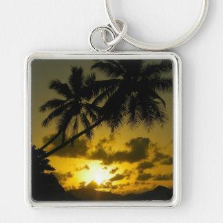 Palm tree sunset keychain