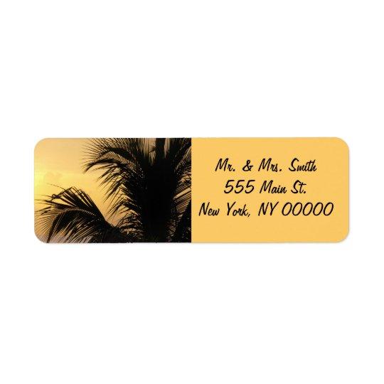 Palm Tree Sunset Return Address Labels