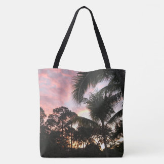 Palm Tree Sunsets Tote Bag
