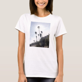 Palm Tree Sunshine Sketch T-Shirt