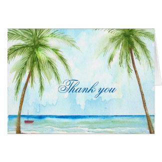 Palm Tree Thank You Card