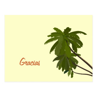 Palm Tree Thank You Post Cards