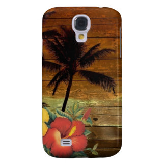 Palm Tree totem tropical Floral hibiscus Hawaiian Samsung Galaxy S4 Covers