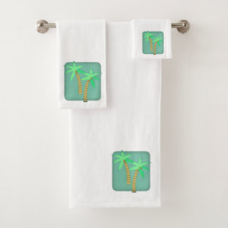 Palm tree towel set