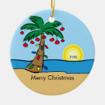 Palm Tree Tropical Christmas Ornament