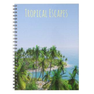 Palm Tree Tropical Island Notebook