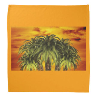 Palm Tree Tropical Personalize Sunset Bandanas