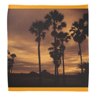 Palm Tree Tropical Personalize Sunset Head Kerchief
