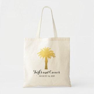 Palm Tree Tropics | Wedding Budget Tote Bag