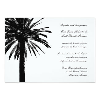 Palm tree wedding invitations | Tropical invites