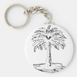 Palm Tree White The MUSEUM Zazzle Gifts Key Chains